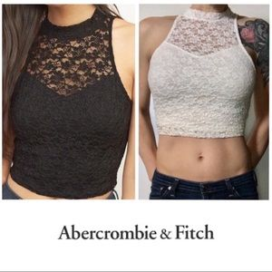 Abercrombie & Fitch Lace Halter Tank Top Medium M